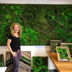 @planted.design's awesome moss creations are putting on quite a display @insidesource_bayarea! Excavating Treasures 2016! 🌱  #shopping @iida_hq @iidanorcal #livingwall #mosswall #sustainability #design #art #interiordesign