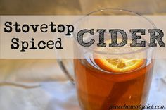 Delicious stovetop apple #cider #recipe - one of my favorite fall/winter #drinks !