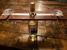 Wine glass holder made from dark walnut, mahogany and maple. Wine Glass Holder, Dark Walnut, Entryway Tables, Woodworking, Home Decor, Woodworking Crafts, Joinery, Interior Design, Carpentry