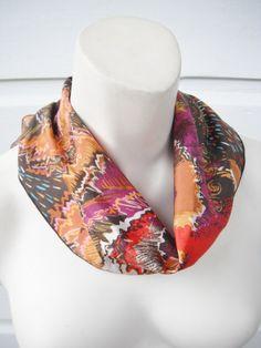 15  OFF SALE 1960s vintage hair scarf in by ArieleSierraDesigns, $7.99