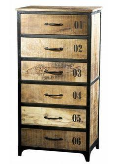 houten ladenkast