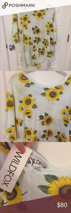 FLASH SALE 🎉NWT Wildfox Sunflower Tunic brand new!!! Wildfox Couture Tops