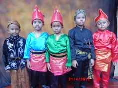 Java, Aceh, Jakarta and Padang traditional clothes