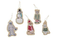 Asst. of 5 Holiday Gift Tags