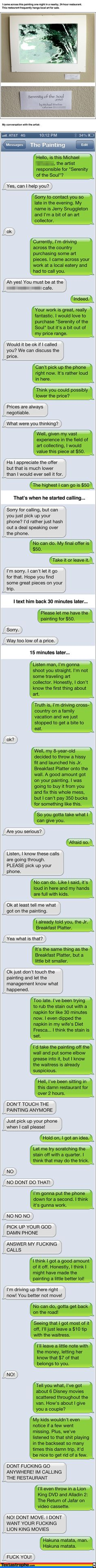 Textastrophe. This is hilarious. The site finds phone numbers people leave on flyers and such and then texts them. Seriously, go check out this site. It will make your day!