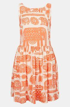 Topshop Ladder Back Print Dress | Nordstrom