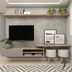 Excellent small living room designs are offered on our site. Take a look and you will not be sorry you did. Living Room Tv Unit, Home Living Room, Interior Design Living Room, Living Room Designs, Living Room Decor, Small Living Rooms, Tv Room Small, Tv On Wall Ideas Living Room, Muebles Living