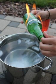 Clean cut drinking glasses from bottles. No tools or saws necessary!