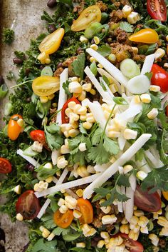 Kale Taco Salad but I use veggie grounds intend of meat