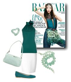 """aqua blue"" by sensual-spirit on Polyvore featuring Givenchy, Gucci and Bottega Veneta"