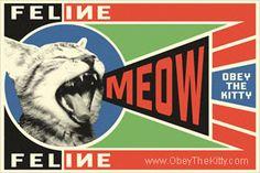 MEOW! Cat Propaganda : Obey the pure breed! The Dog Revolution