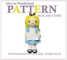 Alice in Wonderland Amigurumi Crochet via Craftsy