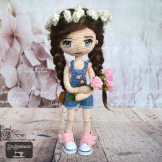 🌸 Crochet Doll 🌸 Captain Hat, Dolls, Crochet, Hats, Baby Dolls, Hat, Puppet, Doll, Ganchillo