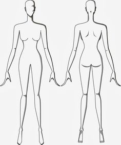 mannequin template for fashion design - Google Search