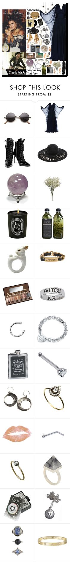 """Time cast a spell on me and you, you could've loved me if you wanted to. But nobody else will wrap you in their dreams like I do. ❤"" by loretta-mccoy ❤ liked on Polyvore featuring Giuseppe Zanotti, Eugenia Kim, Diptyque, Chanel, ZIG-ZAG, Urban Decay, Tiffany & Co., ileava, Orelia and Ash"