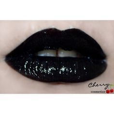 """Mineral Lipstick Black """"Raven"""" Vegan, Cruelty-Free ($17) ❤ liked on Polyvore featuring beauty products, makeup, lip makeup, lipstick, lips, black, black lips makeup, lips makeup, mineral lipstick and vegan lipstick"""