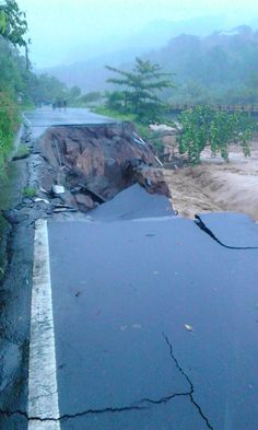 A road completely destroyed #hurricaneerika