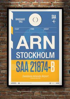 Image of Flight Tag Prints - Stockholm