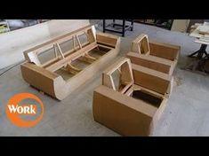 Мебель своими руками. Изготовление дивана. Часть 2. - YouTube