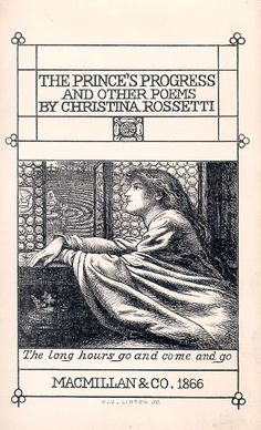 The Princes' Progress and Other Poems by Christina Rossetti, published by Macmillan and Co., 1866