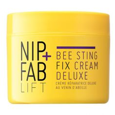 Bee Sting Fix Cream Deluxe from Nip + Fab $44,99 A nourishing moisturiser. Contains Bee Venom which plumps and fills in fine lines and wrinkles, Honey to moisturise and nourish the skin, Propolis extract which heals the skin and fights against bacteria, Shea Butter which softens the skin, as well as Beeswax which also softens the skin and retains moisture.