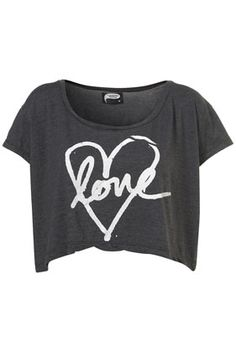 LOVE HEART CROP TOP BY ILLUSTRATED PEOPLE**    Price:$40.00