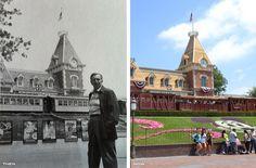 THEN AND NOW: Walt atDisneyland - Imagineering Disney -  I love this post of photographs from Disney!