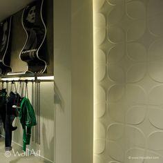 Pannelli tridimensionali wallart sweeps dal design moderno ed accattivante confezione da mq.3.
