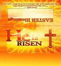 """Here's a SWEET way to share your faith this Easter - Free, Printable Easter Morning Candy Bar Wrappers proclaim the Good News that """"He Is Risen""""!"""