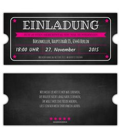 Vintage-Einladungskarte-Ticket-Eintrittskarten-gestalten-Einladung-party-40.-50.- 60.- Geburtstag-gestanzt Diy Birthday Gifts For Sister, Ticket, Vintage, Creative, Theater, 60th Birthday, Invitation Birthday, Invitation Ideas, Funny Products