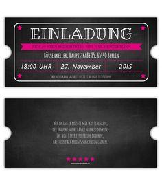Vintage-Einladungskarte-Ticket-Eintrittskarten-gestalten-Einladung-party-40.-50.- 60.- Geburtstag-gestanzt