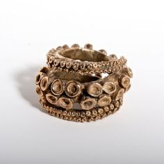 Beautiful double octopus ring brass tentacle rings open shank design by Zulasurfing via Etsy