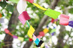 totallyinspiring:  Tissue Paper Garland byElizabeth Kartchner