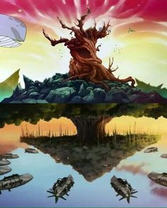 the Tree of Time and the Banyan Grove Tree Avatar Aang, Avatar The Last Airbender, Avatar Tree, The Last Avatar, Team Avatar, Fire Nation, Anime Tattoos, Legend Of Korra, Adventure Time