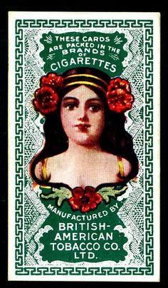 Cigarette Card Back