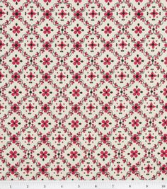 For some cupboard curtains? Keepsake Calico Fabric- Arabella Diamond Trellis Red : keepsake calico fabric : quilting fabric & kits : fabric :  Shop | Joann.com