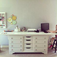 DIY Home: DIY Dresser to Desk my New Scrap Table!