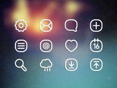 Dribbble - Icons – Free download by Hüseyin Yilmaz ☺
