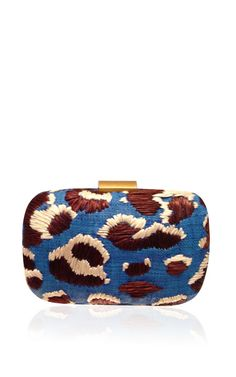 Blue Minaudiere In Straw by Serpui Marie - Spring-Summer 2014 - Moda Operandi (=)