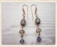 Hand made boho style dangle earrings shades of by catchmearainbow