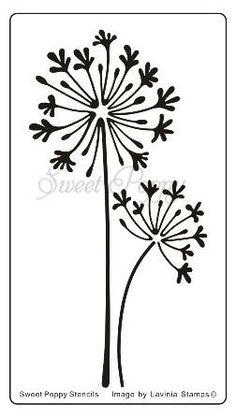 Sweet Poppy Stencil - Agapanthus - Samuel Taylors
