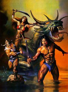 Covers By Boris Vallejo Golden Axe II - Sega Genesis and Mega Drive Boris Vallejo, Julie Bell, Retro Video Games, Video Game Art, Retro Games, Dark Fantasy Art, Fantasy Artwork, Bell Art, Conan The Barbarian