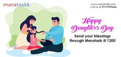 Same day delivery in Delhi NCR Happy Daughters Day, National Daughters Day, To My Daughter, Miraculous, Blessings, Delivery, Kids, Young Children, Boys
