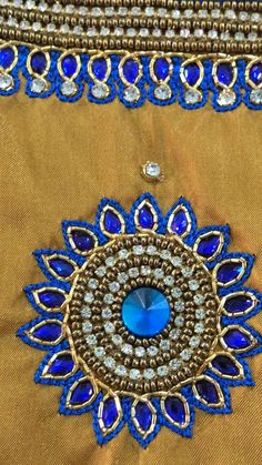 Simple Blouse Designs, Saree Blouse Neck Designs, Stylish Blouse Design, Hand Embroidery Design Patterns, Hand Embroidery Stitches, Mirror Work Blouse Design, Hand Designs, Embroidered Blouse, Blouses
