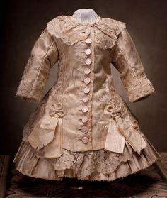 Antique French Silk Satin Dress for Jumeau Bru Steiner BEBE Doll 22 23 034 | eBay