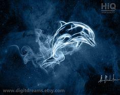 Dolphin, shamanic #Patronus gift present artwork by DigitDreams http://etsy.me/16YVU3i