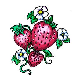 Strawberry tattoo by biomek.deviantart.com on @deviantART