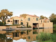 Designed by acclaimed Texas architect, Michael G. Imber, for the 2011 Southern Living Idea House. This stunning home blends indoor/outdoor living with over 4000 sq ft of outdoor living complete with a pool, shuttered loggia, guest casita, gourmet outdoor kitchen with wood-burning fireplace, boathouse, private dock, and 140′ of serene lake frontage.