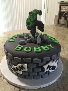 Ethans Hulk cake Hulk cakes Hero and Cake