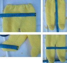 POLAINAS DE PRIMERA POSTURA EN PUNTO MUSGO Materiales Lana especial bebé color amarillo Agujas de punto del nº 2,5 Agujas de pun...